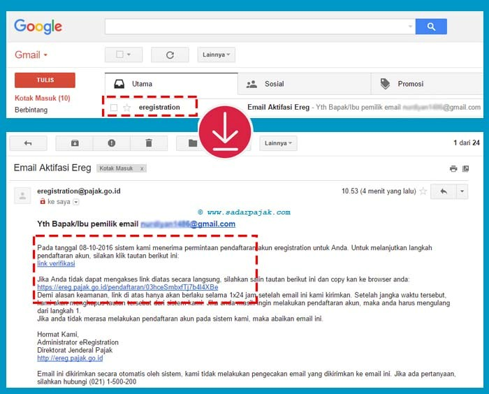 Link Verifikasi Alamat Email
