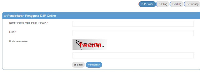 Proses Pembuatan Akun DJP Online