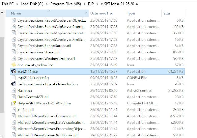File Aplikasi eSPT PPh 21